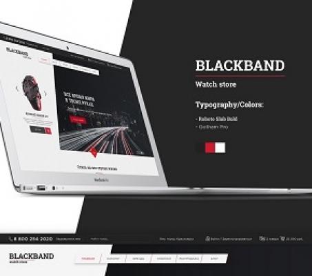 Дизайн — интернет-магазин часов «BlackBand»